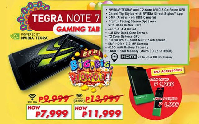Cherry Mobile Tegra Note 7 Gets ₱2,000 Discount