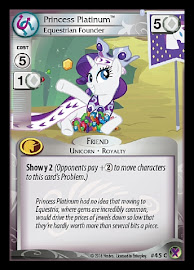 My Little Pony Princess Platinum, Equestrian Founder Marks in Time CCG Card