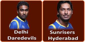 DD Vs SRH IPL match is on 12 April 2013.