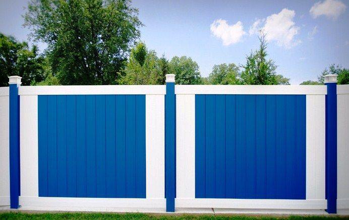 Kombinasi Cat Pagar Rumah Warna Putih Biru