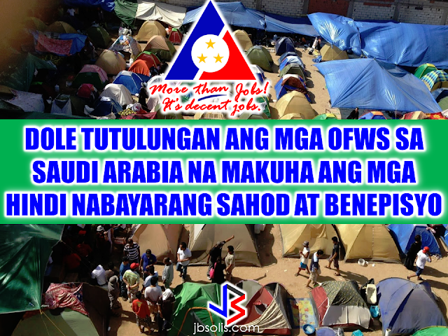 "Labor Secretary Silvestre Bello III said during President Duterte's meeting with the Filipino community in Riyadh that DOLE will ensure that the unpaid claims of the OFWs in Saudi Arabia will be resolved. Their augmentation team is establishing the validity of the claims and if the validity is established, they can possibly get it in advance with the help of OWWA.  In relation with this, the Department of Labor and Employment (DOLE) and the Overseas Workers Welfare Administration (OWWA) assured a group of overseas Filipino workers who were repatriated from Saudi Arabia that they will help them in claiming their unpaid wages and benefits from their employers.  Labor Undersecretary Joel Maglunsod, in a meeting with a group of OFWs who were formerly employed at Mohammad Al-Mojil Group (MMG) in Saudi Arabia, said that the department's priority is providing assistance for the distressed workers. He, however, clarified that the government needs time to assess the concerns of the workers, most especially their unpaid wages and benefits from their employers in the Middle East.  The MMG workers who were repatriated in August last year have not received their wages despite the claims cases that the Philippine Overseas Labor Office (POLO) in Al Khobar had filed against the company.    OWWA Administrator Hans Leo Cacdac said the agency is doing the best it can to assess the situation and coordinate with the Department of Foreign Affairs (DFA), which handles the case of the MMG workers.    It can be noted that DOLE and the Saudi Ministry of Labor have signed an agreement which will hasten the repatriation of OFWs as well as the processing of their wages and benefits claims before the Saudi court. Source: DOLE  Recommended: KumpaS OFW (Kumpulan ng Pangulo Sa mga Filipinos Worldwide) is a compilation of OFW stories, success and failure likewise,  gathered by the Presidential Communications Office to show the real situations of the OFWs working outside the country.  All video clips belong to the Presidential Communications Office. Watch and be inspired. Story #1   This video is the story of an OFW in Saudi Arabia. A former household service workers who strived to succeed and became a successful business woman. She worked as a beautician and eventually put up her own recruitment firm. She devoted herself to helping distressed household workers without expecting anything in return. Fatima Ibrahim is a living example that life may be unforgiving at times but there's always light at the end of the tunnel.  Story #2  Valenardo Haduca, an electronics instructor in Bahrain relates his experience being a teacher in an unfamiliar territory with far different culture. How he needed more patience in dealing with his students. OFWs, more than others develop more patience while working abroad. It is a vital virtue every OFW should have in dealing with other nationalities at any given country.   Story #3  Rosielyn Dela Rita found her refuge at Bahay-Kalinga, a shelter for abused OFW women, (a counterpart of Esteraha for OFW men). Rosielyn was among the OFWs who availed the amnesty and had been repatriated with the help of Philippine Overseas Labor Office in Saudi Arabia.  Story #4  For Randy Ayuste, the path to success was never easy. Before he became a successful graphic/visual artist in Bahrain, he experienced how to be swindled and underpaid. He said that however successful an OFW may be in whatever field you have abroad, it will never be called a success because your family longs for your presence back home.    Story #5  For John Bituin, a DJ in Bahrain, being an OFW is a life of challenges. From being a newbie DJ who hardly earns P20 in the Philippines. He has given a chance to work in Bahrain, from being a DJ to a successful entertainment business owner who brings Filipino bands and talents to Bahrain.    RECOMMENDED: At this age where children love to stay on the couch holding their tablets and mobile phones, an elementary student chooses to be active in school and swimming which made him the ""heaviest"" elementary graduate on earth.   A student in Mabalacat, Pampanga raked 58 medals from academic and different fields. On his Facebook post, he said that this time it's heavier compared to the medals he got last year. Joshua Santiago, 12, graduated in Elementary at Mabiga Mabalacat Elementary School in Mabalacat Pampanga earlier this month. His video post with over a million views as of this writing  shows how many medals he got. Most of his medals are from the swimming competitions where he joined and won including a chance to participate at the Palarong pambansa.  His dedication and determination paid off as he graduated. This little guy inspired everyone around him especially his teammates and classmates. To collect more than 10 medals   would be enough but for him it was unbelievable.    In a facebook status, his mother made a clarification that those 58 medals was from his being an excellent swimmer and from his academic excellence. He was also awarded as ""Athlete of the Year"".    Recommended:  A cleaner in Saudi Arabia was mocked on social media after a photo of him looking at jewelry went viral. The Department of Health expressed concern  over possible mental illness among the young people due to the alarming amount of time they spend on social media.  According to DOH spokesman, Eric Tayag, while social media is a way to connect to other people, it also has adverse effects.  Tayag also said that most juveniles that are fond of social media are also involved in bullying, angst and depression.  Bullying and depression can start with issues about love, relationship with the same sex, unplanned pregnancy, problems at school, at home and health problems.  Common symptoms that a person is experiencing depression is that  they do not do daily activities normally like taking a bath, skipping meals, always sad and not engaging in conversations.   {INSERT 2-3 PARAGRAPHS HERE} {INSERT ANOTHER 5 {INSERT 2-3 PARAGRAPH   The severe depression that burdened the young people through social media results to bullying. even social media creates a connection, people with mental health issues perceive it differently.  DOH step is a response to the World Health Organization (WHO) reports that from 2005 to 2015, the number of people who suffer depression that leads to committing suicide has increased to 18%.  WHO celebrated  World health Day that focused on how to cure depression problems. It can be cured by means of counselling.  In 2005, 280 million people suffered from depression and has increased to 332 Million in 2015. This is a serious threat to all the young people around the world including the Filipino youth.  In the records of the DOH HOPE Line, they have received 3,479 depression  related phone calls in 2016. Most number of calls are recorded on November and December last year and on February this year.  Health Secretary Paulyn Jean Ubial said that the DOH has allocated P100 million funds to address the said problem in mental illness . Source: Philstar Recommended: Facebook has been a part of everyday life for many. From here they can be aware of what's currently happening around them, get in touch with old friends, some even sell things and make a living. Social media platforms like facebook provides useful informations from simple shoutouts and statuses to relevant news and current events. But lately, a lot of false news has invaded the social media spreading false and malicious posts. A lot of them is just a click bait which redirects you to a site full of ads. Some money-making maniacs are taking advantage of the popularity of social media sites making it difficult for the netizens to spot a legitimate posts from a fake one.    A wife of an OFW asked OWWA about what sort of  business she can start as a spouse of an OFW who is an active member. Samantha Natividad  said that her husband is an OFW for a long time and she wants to start a business to help her husband as their children are growing up as well as their expenses. As a helpful information for other OFW spouses  who also want to help  their OFW partners, we made this info graphics regarding this topic.  Does OWWA have an existing program for OFWs who want to start their own business? Yes. The Overseas Workers Welfare Administration (OWWA) has  two existing programs under the reintegration program  for those who want to start their own business.  What are those? In the first program, OWWA can give a 'grant' for OFW spouses who want to start even a small scale business. How much is the amount of funds OWWA can provide under this program? The fund that can be granted under this program depends on what kind of business they want to start. However, the maximum amount is only P20,000.   What is the other program? The other program is called a 'special loan program'. this loan program is through partnership with the Development Bank of the Philippines (DBP) and the Land Bank of the Philippines.  How much can an OFW spouse can avail on this program? OFWs and their spouses can avail a loan amounting from P300,000 up to P2,000,000.  How much should be the net income of an OFW to avail of this loan? For an OFW to avail of this loan, he/she must be earning a net monthly income of at least P10,000 to avail the loan amount of P3,000 up to P2 Million.    How much will be the interest rate? The loan will have an interest rate of 7.5% annually.  What will be the mode/frequency of payment? Depending on project's cash flow, the OFW can pay it on monthly, quarterly or annual basis.  Where  should the OFW wife/husband apply to avail these programs? They can apply at any OWWA Regional Welfare Office (ORW) nearest to them.  What are the eligibility requirements  for the  OFW to be qualified to avail? 1. The OFW must be an active OWWA member.  2. OFW husband/wife who want to avail must have completed the Entrepreneurial Development Training (EDT) conducted by NRCO and OWWA ORWsin cooperation with the Department of Trade and Industry/Philippine Trade Training Center (PTTC)/ Bureau of Micro, Small and Medium Enterprise Development (BSMED).  3. They must provide 20% equity.  4. The project or business must generate a net income of at least P10,000 for the OFW.  For details and information regarding these program, you can contact OWWA Regional Offices in your area.  *These information is based on the answer provided by OWWA Deputy Administrator Josefino Torres. Source: BanderaInquirer.net   Recommended:     2017 Top 10 IDEAS for OFWs to Invest  A Filipina based in Waikato, New Zealand has now been sentenced to 11 months and  2 weeks of house arrest after she was convicted for 284 immigration fraud charges involving her visa scam back in October 2015. A 180 hour community service also comes with the sentence. Loraine Anne Jayme, 35, a resident of Te Aroha, Waikato has a dual citizenship. For every OFW who wish to come to New Zealand, she charges $2,250 each. It took some time for the scam to be uncovered because Immigration New Zealand (INZ) didn't initially realise a large portion of the workers were processing their application through the alleged ringleader.   However, Immigration Minister Michael Woodhouse said that more than a thousand Filipinos who might have entered the country illegally  using fake visas could stay.  Mr. Woodland said that they could stay to avoid potential damage to the dairy industry and the rebuilding of Christchurch. There are 38,000  OFWs working on dairy farms in New Zealand and they are living with pretty good reputation with regards to their work ethics and they are worried about what it could mean to them.  ""We're law abiding people. We like to see the law of our land upheld and proper process done,"" Mr Lewis said.   ""So yeah, I have to give credit to Immigration New Zealand for doing it and hopefully they'll be back on deck next week processing them within their required rules,"" he added. The authorities are now auditing farms around the Waikato, Canterbury and Southland. Source: TVNZ, NewsHub, Inquirer RECOMMENDED:  The mother of a 12-year old girl who mysteriously died while on her father's care in Jeddah, Saudi Arabia sought the help of the Philippine government, particularly on the Presidential Action Center to help her forward the case to the DFA to allow the Philippine Consulate in Jeddah  to transmit the autopsy report conducted on her daughter.Bliss Mendoza, an OFW in Canada was working in Jeddah as a nurse together with her husband and daughter ""Tipay"" before she worked in Canada and left her daughter with her husband's care in Jeddah.     The OFWs are the reason why President Rodrigo Duterte is pushing through with the campaign on illegal drugs, acknowledging their hardships and sacrifices. He said that as he visit the countries where there are OFWs, he has heard sad stories about them: sexually abused Filipinas,domestic helpers being forced to work on a number of employers. ""I have been to many places. I have been to the Middle East. You know, the husband is working in one place, the wife in another country. The so many sad stories I hear about our women being raped, abused sexually,"" The President said. About Filipino domestic helpers, he said:  ""If you are working on a family and the employer's sibling doesn't have a helper, you will also work for them. And if in a compound,the son-in-law of the employer is also living in there, you will also work for him.So, they would finish their work on sunrise."" He even refer to the OFWs being similar to the African slaves because of the situation that they have been into for the sake of their families back home. Citing instances that some of them, out of deep despair, resorted to ending their own lives.  The President also said that he finds it heartbreaking to know that after all the sacrifices of the OFWs working abroad for the future of their families they would come home just to learn that their children has been into illegal drugs. ""I made no bones about my hatred. I said, 'If you do drugs in my city, if you destroy our daughters and sons, I'll just have to kill you.' I repeated the same warning when i became president,"" he said.   Critics of the so-called violent war on drugs under President Duterte's administration includes local and international human rights groups, linking the campaign on thousands of drug-related killings.  Police figures show that legitimate police operations have led to over 2,600 deaths of individuals involved in drugs since the war on drugs began. However, the war on drugs has been evident that the extent of drug menace should be taken seriously. The drug personalities includes high ranking officials and they thrive in the expense of our own children,if not being into drugs, being victimized by drug related crimes. The campaign on illegal drugs has somehow made a statement among the drug pushers and addicts. If the common citizen fear walking on the streets at night worrying about the drug addicts lurking in the dark, now they can walk peacefully while the drug addicts hide in fear that the police authorities might get them. Source:GMA {INSERT ALL PARAGRAPHS HERE {EMBED 3 FB PAGES POST FROM JBSOLIS/THOUGHTSKOTO/PEBA HERE OR INSERT 3 LINKS}   ©2017 THOUGHTSKOTO www.jbsolis.com SEARCH JBSOLIS The OFWs are the reason why President Rodrigo Duterte is pushing through with the campaign on illegal drugs, acknowledging their hardships and sacrifices.     ©2017 THOUGHTSKOTO www.jbsolis.com SEARCH JBSOLIS The mother of a 12-year old girl who mysteriously died while on her father's care in Jeddah, Saudi Arabia sought the help of the Philippine government, particularly on the Presidential Action Center to help her forward the case to the DFA to allow the Philippine Consulate in Jeddah  to transmit the autopsy report conducted on her daughter.Bliss Mendoza, an OFW in Canada was working in Jeddah as a nurse together with her husband and daughter ""Tipay"" before she worked in Canada and left her daughter with her husband's care in Jeddah.    The OFWs are the reason why President Rodrigo Duterte is pushing through with the campaign on illegal drugs, acknowledging their hardships and sacrifices. He said that as he visit the countries where there are OFWs, he has heard sad stories about them: sexually abused Filipinas,domestic helpers being forced to work on a number of employers. ""I have been to many places. I have been to the Middle East. You know, the husband is working in one place, the wife in another country. The so many sad stories I hear about our women being raped, abused sexually,"" The President said. About Filipino domestic helpers, he said:  ""If you are working on a family and the employer's sibling doesn't have a helper, you will also work for them. And if in a compound,the son-in-law of the employer is also living in there, you will also work for him.So, they would finish their work on sunrise."" He even refer to the OFWs being similar to the African slaves because of the situation that they have been into for the sake of their families back home. Citing instances that some of them, out of deep despair, resorted to ending their own lives.  The President also said that he finds it heartbreaking to know that after all the sacrifices of the OFWs working abroad for the future of their families they would come home just to learn that their children has been into illegal drugs. ""I made no bones about my hatred. I said, 'If you do drugs in my city, if you destroy our daughters and sons, I'll just have to kill you.' I repeated the same warning when i became president,"" he said.   Critics of the so-called violent war on drugs under President Duterte's administration includes local and international human rights groups, linking the campaign on thousands of drug-related killings.  Police figures show that legitimate police operations have led to over 2,600 deaths of individuals involved in drugs since the war on drugs began. However, the war on drugs has been evident that the extent of drug menace should be taken seriously. The drug personalities includes high ranking officials and they thrive in the expense of our own children,if not being into drugs, being victimized by drug related crimes. The campaign on illegal drugs has somehow made a statement among the drug pushers and addicts. If the common citizen fear walking on the streets at night worrying about the drug addicts lurking in the dark, now they can walk peacefully while the drug addicts hide in fear that the police authorities might get them. Source:GMA {INSERT ALL PARAGRAPHS HERE {EMBED 3 FB PAGES POST FROM JBSOLIS/THOUGHTSKOTO/PEBA HERE OR INSERT 3 LINKS}   ©2017 THOUGHTSKOTO www.jbsolis.com SEARCH JBSOLIS The OFWs are the reason why President Rodrigo Duterte is pushing through with the campaign on illegal drugs, acknowledging their hardships and sacrifices.     ©2017 THOUGHTSKOTO www.jbsolis.com SEARCH JBSOLIS  2017 Top 10 IDEAS for OFWs to Invest  A Filipina based in Waikato, New Zealand has now been sentenced to 11 months and  2 weeks of house arrest after she was convicted for 284 immigration fraud charges involving her visa scam back in October 2015. A 180 hour community service also comes with the sentence. Loraine Anne Jayme, 35, a resident of Te Aroha, Waikato has a dual citizenship. For every OFW who wish to come to New Zealand, she charges $2,250 each. It took some time for the scam to be uncovered because Immigration New Zealand (INZ) didn't initially realise a large portion of the workers were processing their application through the alleged ringleader.   However, Immigration Minister Michael Woodhouse said that more than a thousand Filipinos who might have entered the country illegally  using fake visas could stay.  Mr. Woodland said that they could stay to avoid potential damage to the dairy industry and the rebuilding of Christchurch. There are 38,000  OFWs working on dairy farms in New Zealand and they are living with pretty good reputation with regards to their work ethics and they are worried about what it could mean to them.  ""We're law abiding people. We like to see the law of our land upheld and proper process done,"" Mr Lewis said.   ""So yeah, I have to give credit to Immigration New Zealand for doing it and hopefully they'll be back on deck next week processing them within their required rules,"" he added. The authorities are now auditing farms around the Waikato, Canterbury and Southland. Source: TVNZ, NewsHub, Inquirer RECOMMENDED:  The mother of a 12-year old girl who mysteriously died while on her father's care in Jeddah, Saudi Arabia sought the help of the Philippine government, particularly on the Presidential Action Center to help her forward the case to the DFA to allow the Philippine Consulate in Jeddah  to transmit the autopsy report conducted on her daughter.Bliss Mendoza, an OFW in Canada was working in Jeddah as a nurse together with her husband and daughter ""Tipay"" before she worked in Canada and left her daughter with her husband's care in Jeddah.     The OFWs are the reason why President Rodrigo Duterte is pushing through with the campaign on illegal drugs, acknowledging their hardships and sacrifices. He said that as he visit the countries where there are OFWs, he has heard sad stories about them: sexually abused Filipinas,domestic helpers being forced to work on a number of employers. ""I have been to many places. I have been to the Middle East. You know, the husband is working in one place, the wife in another country. The so many sad stories I hear about our women being raped, abused sexually,"" The President said. About Filipino domestic helpers, he said:  ""If you are working on a family and the employer's sibling doesn't have a helper, you will also work for them. And if in a compound,the son-in-law of the employer is also living in there, you will also work for him.So, they would finish their work on sunrise."" He even refer to the OFWs being similar to the African slaves because of the situation that they have been into for the sake of their families back home. Citing instances that some of them, out of deep despair, resorted to ending their own lives.  The President also said that he finds it heartbreaking to know that after all the sacrifices of the OFWs working abroad for the future of their families they would come home just to learn that their children has been into illegal drugs. ""I made no bones about my hatred. I said, 'If you do drugs in my city, if you destroy our daughters and sons, I'll just have to kill you.' I repeated the same warning when i became president,"" he said.   Critics of the so-called violent war on drugs under President Duterte's administration includes local and international human rights groups, linking the campaign on thousands of drug-related killings.  Police figures show that legitimate police operations have led to over 2,600 deaths of individuals involved in drugs since the war on drugs began. However, the war on drugs has been evident that the extent of drug menace should be taken seriously. The drug personalities includes high ranking officials and they thrive in the expense of our own children,if not being into drugs, being victimized by drug related crimes. The campaign on illegal drugs has somehow made a statement among the drug pushers and addicts. If the common citizen fear walking on the streets at night worrying about the drug addicts lurking in the dark, now they can walk peacefully while the drug addicts hide in fear that the police authorities might get them. Source:GMA {INSERT ALL PARAGRAPHS HERE {EMBED 3 FB PAGES POST FROM JBSOLIS/THOUGHTSKOTO/PEBA HERE OR INSERT 3 LINKS}   ©2017 THOUGHTSKOTO www.jbsolis.com SEARCH JBSOLIS The OFWs are the reason why President Rodrigo Duterte is pushing through with the campaign on illegal drugs, acknowledging their hardships and sacrifices.     ©2017 THOUGHTSKOTO www.jbsolis.com SEARCH JBSOLIS The mother of a 12-year old girl who mysteriously died while on her father's care in Jeddah, Saudi Arabia sought the help of the Philippine government, particularly on the Presidential Action Center to help her forward the case to the DFA to allow the Philippine Consulate in Jeddah  to transmit the autopsy report conducted on her daughter.Bliss Mendoza, an OFW in Canada was working in Jeddah as a nurse together with her husband and daughter ""Tipay"" before she worked in Canada and left her daughter with her husband's care in Jeddah.   The OFWs are the reason why President Rodrigo Duterte is pushing through with the campaign on illegal drugs, acknowledging their hardships and sacrifices. He said that as he visit the countries where there are OFWs, he has heard sad stories about them: sexually abused Filipinas,domestic helpers being forced to work on a number of employers. ""I have been to many places. I have been to the Middle East. You know, the husband is working in one place, the wife in another country. The so many sad stories I hear about our women being raped, abused sexually,"" The President said. About Filipino domestic helpers, he said:  ""If you are working on a family and the employer's sibling doesn't have a helper, you will also work for them. And if in a compound,the son-in-law of the employer is also living in there, you will also work for him.So, they would finish their work on sunrise."" He even refer to the OFWs being similar to the African slaves because of the situation that they have been into for the sake of their families back home. Citing instances that some of them, out of deep despair, resorted to ending their own lives.  The President also said that he finds it heartbreaking to know that after all the sacrifices of the OFWs working abroad for the future of their families they would come home just to learn that their children has been into illegal drugs. ""I made no bones about my hatred. I said, 'If you do drugs in my city, if you destroy our daughters and sons, I'll just have to kill you.' I repeated the same warning when i became president,"" he said.   Critics of the so-called violent war on drugs under President Duterte's administration includes local and international human rights groups, linking the campaign on thousands of drug-related killings.  Police figures show that legitimate police operations have led to over 2,600 deaths of individuals involved in drugs since the war on drugs began. However, the war on drugs has been evident that the extent of drug menace should be taken seriously. The drug personalities includes high ranking officials and they thrive in the expense of our own children,if not being into drugs, being victimized by drug related crimes. The campaign on illegal drugs has somehow made a statement among the drug pushers and addicts. If the common citizen fear walking on the streets at night worrying about the drug addicts lurking in the dark, now they can walk peacefully while the drug addicts hide in fear that the police authorities might get them. Source:GMA {INSERT ALL PARAGRAPHS HERE {EMBED 3 FB PAGES POST FROM JBSOLIS/THOUGHTSKOTO/PEBA HERE OR INSERT 3 LINKS}   ©2017 THOUGHTSKOTO www.jbsolis.com SEARCH JBSOLIS The OFWs are the reason why President Rodrigo Duterte is pushing through with the campaign on illegal drugs, acknowledging their hardships and sacrifices.  ©2017 THOUGHTSKOTO www.jbsolis.com SEARCH JBSOLISFacebook has been a part of everyday life for many. From here they can be aware of what's currently happening around them, get in touch with old friends, some even sell things and make a living. Social media platforms like facebook provides useful informations from simple shoutouts and statuses to relevant news and current events. But lately, a lot of false news has invaded the social media spreading false and malicious posts. A lot of them is just a click bait which redirects you to a site full of ads. Some money-making maniacs are taking advantage of the popularity of social media sites making it difficult for the netizens to spot a legitimate posts from a fake one.    A wife of an OFW asked OWWA about what sort of  business she can start as a spouse of an OFW who is an active member. Samantha Natividad  said that her husband is an OFW for a long time and she wants to start a business to help her husband as their children are growing up as well as their expenses. As a helpful information for other OFW spouses  who also want to help  their OFW partners, we made this info graphics regarding this topic.  Does OWWA have an existing program for OFWs who want to start their own business? Yes. The Overseas Workers Welfare Administration (OWWA) has  two existing programs under the reintegration program  for those who want to start their own business.  What are those? In the first program, OWWA can give a 'grant' for OFW spouses who want to start even a small scale business. How much is the amount of funds OWWA can provide under this program? The fund that can be granted under this program depends on what kind of business they want to start. However, the maximum amount is only P20,000.   What is the other program? The other program is called a 'special loan program'. this loan program is through partnership with the Development Bank of the Philippines (DBP) and the Land Bank of the Philippines.  How much can an OFW spouse can avail on this program? OFWs and their spouses can avail a loan amounting from P300,000 up to P2,000,000.  How much should be the net income of an OFW to avail of this loan? For an OFW to avail of this loan, he/she must be earning a net monthly income of at least P10,000 to avail the loan amount of P3,000 up to P2 Million.    How much will be the interest rate? The loan will have an interest rate of 7.5% annually.  What will be the mode/frequency of payment? Depending on project's cash flow, the OFW can pay it on monthly, quarterly or annual basis.  Where  should the OFW wife/husband apply to avail these programs? They can apply at any OWWA Regional Welfare Office (ORW) nearest to them.  What are the eligibility requirements  for the  OFW to be qualified to avail? 1. The OFW must be an active OWWA member.  2. OFW husband/wife who want to avail must have completed the Entrepreneurial Development Training (EDT) conducted by NRCO and OWWA ORWsin cooperation with the Department of Trade and Industry/Philippine Trade Training Center (PTTC)/ Bureau of Micro, Small and Medium Enterprise Development (BSMED).  3. They must provide 20% equity.  4. The project or business must generate a net income of at least P10,000 for the OFW.  For details and information regarding these program, you can contact OWWA Regional Offices in your area.  *These information is based on the answer provided by OWWA Deputy Administrator Josefino Torres. Source: BanderaInquirer.net   Recommended:     2017 Top 10 IDEAS for OFWs to Invest  A Filipina based in Waikato, New Zealand has now been sentenced to 11 months and  2 weeks of house arrest after she was convicted for 284 immigration fraud charges involving her visa scam back in October 2015. A 180 hour community service also comes with the sentence. Loraine Anne Jayme, 35, a resident of Te Aroha, Waikato has a dual citizenship. For every OFW who wish to come to New Zealand, she charges $2,250 each. It took some time for the scam to be uncovered because Immigration New Zealand (INZ) didn't initially realise a large portion of the workers were processing their application through the alleged ringleader.   However, Immigration Minister Michael Woodhouse said that more than a thousand Filipinos who might have entered the country illegally  using fake visas could stay.  Mr. Woodland said that they could stay to avoid potential damage to the dairy industry and the rebuilding of Christchurch. There are 38,000  OFWs working on dairy farms in New Zealand and they are living with pretty good reputation with regards to their work ethics and they are worried about what it could mean to them.  ""We're law abiding people. We like to see the law of our land upheld and proper process done,"" Mr Lewis said.   ""So yeah, I have to give credit to Immigration New Zealand for doing it and hopefully they'll be back on deck next week processing them within their required rules,"" he added. The authorities are now auditing farms around the Waikato, Canterbury and Southland. Source: TVNZ, NewsHub, Inquirer RECOMMENDED:  The mother of a 12-year old girl who mysteriously died while on her father's care in Jeddah, Saudi Arabia sought the help of the Philippine government, particularly on the Presidential Action Center to help her forward the case to the DFA to allow the Philippine Consulate in Jeddah  to transmit the autopsy report conducted on her daughter.Bliss Mendoza, an OFW in Canada was working in Jeddah as a nurse together with her husband and daughter ""Tipay"" before she worked in Canada and left her daughter with her husband's care in Jeddah.     The OFWs are the reason why President Rodrigo Duterte is pushing through with the campaign on illegal drugs, acknowledging their hardships and sacrifices. He said that as he visit the countries where there are OFWs, he has heard sad stories about them: sexually abused Filipinas,domestic helpers being forced to work on a number of employers. ""I have been to many places. I have been to the Middle East. You know, the husband is working in one place, the wife in another country. The so many sad stories I hear about our women being raped, abused sexually,"" The President said. About Filipino domestic helpers, he said:  ""If you are working on a family and the employer's sibling doesn't have a helper, you will also work for them. And if in a compound,the son-in-law of the employer is also living in there, you will also work for him.So, they would finish their work on sunrise."" He even refer to the OFWs being similar to the African slaves because of the situation that they have been into for the sake of their families back home. Citing instances that some of them, out of deep despair, resorted to ending their own lives.  The President also said that he finds it heartbreaking to know that after all the sacrifices of the OFWs working abroad for the future of their families they would come home just to learn that their children has been into illegal drugs. ""I made no bones about my hatred. I said, 'If you do drugs in my city, if you destroy our daughters and sons, I'll just have to kill you.' I repeated the same warning when i became president,"" he said.   Critics of the so-called violent war on drugs under President Duterte's administration includes local and international human rights groups, linking the campaign on thousands of drug-related killings.  Police figures show that legitimate police operations have led to over 2,600 deaths of individuals involved in drugs since the war on drugs began. However, the war on drugs has been evident that the extent of drug menace should be taken seriously. The drug personalities includes high ranking officials and they thrive in the expense of our own children,if not being into drugs, being victimized by drug related crimes. The campaign on illegal drugs has somehow made a statement among the drug pushers and addicts. If the common citizen fear walking on the streets at night worrying about the drug addicts lurking in the dark, now they can walk peacefully while the drug addicts hide in fear that the police authorities might get them. Source:GMA {INSERT ALL PARAGRAPHS HERE {EMBED 3 FB PAGES POST FROM JBSOLIS/THOUGHTSKOTO/PEBA HERE OR INSERT 3 LINKS}   ©2017 THOUGHTSKOTO www.jbsolis.com SEARCH JBSOLIS The OFWs are the reason why President Rodrigo Duterte is pushing through with the campaign on illegal drugs, acknowledging their hardships and sacrifices.     ©2017 THOUGHTSKOTO www.jbsolis.com SEARCH JBSOLIS The mother of a 12-year old girl who mysteriously died while on her father's care in Jeddah, Saudi Arabia sought the help of the Philippine government, particularly on the Presidential Action Center to help her forward the case to the DFA to allow the Philippine Consulate in Jeddah  to transmit the autopsy report conducted on her daughter.Bliss Mendoza, an OFW in Canada was working in Jeddah as a nurse together with her husband and daughter ""Tipay"" before she worked in Canada and left her daughter with her husband's care in Jeddah.    The OFWs are the reason why President Rodrigo Duterte is pushing through with the campaign on illegal drugs, acknowledging their hardships and sacrifices. He said that as he visit the countries where there are OFWs, he has heard sad stories about them: sexually abused Filipinas,domestic helpers being forced to work on a number of employers. ""I have been to many places. I have been to the Middle East. You know, the husband is working in one place, the wife in another country. The so many sad stories I hear about our women being raped, abused sexually,"" The President said. About Filipino domestic helpers, he said:  ""If you are working on a family and the employer's sibling doesn't have a helper, you will also work for them. And if in a compound,the son-in-law of the employer is also living in there, you will also work for him.So, they would finish their work on sunrise."" He even refer to the OFWs being similar to the African slaves because of the situation that they have been into for the sake of their families back home. Citing instances that some of them, out of deep despair, resorted to ending their own lives.  The President also said that he finds it heartbreaking to know that after all the sacrifices of the OFWs working abroad for the future of their families they would come home just to learn that their children has been into illegal drugs. ""I made no bones about my hatred. I said, 'If you do drugs in my city, if you destroy our daughters and sons, I'll just have to kill you.' I repeated the same warning when i became president,"" he said.   Critics of the so-called violent war on drugs under President Duterte's administration includes local and international human rights groups, linking the campaign on thousands of drug-related killings.  Police figures show that legitimate police operations have led to over 2,600 deaths of individuals involved in drugs since the war on drugs began. However, the war on drugs has been evident that the extent of drug menace should be taken seriously. The drug personalities includes high ranking officials and they thrive in the expense of our own children,if not being into drugs, being victimized by drug related crimes. The campaign on illegal drugs has somehow made a statement among the drug pushers and addicts. If the common citizen fear walking on the streets at night worrying about the drug addicts lurking in the dark, now they can walk peacefully while the drug addicts hide in fear that the police authorities might get them. Source:GMA {INSERT ALL PARAGRAPHS HERE {EMBED 3 FB PAGES POST FROM JBSOLIS/THOUGHTSKOTO/PEBA HERE OR INSERT 3 LINKS}   ©2017 THOUGHTSKOTO www.jbsolis.com SEARCH JBSOLIS The OFWs are the reason why President Rodrigo Duterte is pushing through with the campaign on illegal drugs, acknowledging their hardships and sacrifices.     ©2017 THOUGHTSKOTO www.jbsolis.com SEARCH JBSOLIS  2017 Top 10 IDEAS for OFWs to Invest  A Filipina based in Waikato, New Zealand has now been sentenced to 11 months and  2 weeks of house arrest after she was convicted for 284 immigration fraud charges involving her visa scam back in October 2015. A 180 hour community service also comes with the sentence. Loraine Anne Jayme, 35, a resident of Te Aroha, Waikato has a dual citizenship. For every OFW who wish to come to New Zealand, she charges $2,250 each. It took some time for the scam to be uncovered because Immigration New Zealand (INZ) didn't initially realise a large portion of the workers were processing their application through the alleged ringleader.   However, Immigration Minister Michael Woodhouse said that more than a thousand Filipinos who might have entered the country illegally  using fake visas could stay.  Mr. Woodland said that they could stay to avoid potential damage to the dairy industry and the rebuilding of Christchurch. There are 38,000  OFWs working on dairy farms in New Zealand and they are living with pretty good reputation with regards to their work ethics and they are worried about what it could mean to them.  ""We're law abiding people. We like to see the law of our land upheld and proper process done,"" Mr Lewis said.   ""So yeah, I have to give credit to Immigration New Zealand for doing it and hopefully they'll be back on deck next week processing them within their required rules,"" he added. The authorities are now auditing farms around the Waikato, Canterbury and Southland. Source: TVNZ, NewsHub, Inquirer RECOMMENDED:  The mother of a 12-year old girl who mysteriously died while on her father's care in Jeddah, Saudi Arabia sought the help of the Philippine government, particularly on the Presidential Action Center to help her forward the case to the DFA to allow the Philippine Consulate in Jeddah  to transmit the autopsy report conducted on her daughter.Bliss Mendoza, an OFW in Canada was working in Jeddah as a nurse together with her husband and daughter ""Tipay"" before she worked in Canada and left her daughter with her husband's care in Jeddah.     The OFWs are the reason why President Rodrigo Duterte is pushing through with the campaign on illegal drugs, acknowledging their hardships and sacrifices. He said that as he visit the countries where there are OFWs, he has heard sad stories about them: sexually abused Filipinas,domestic helpers being forced to work on a number of employers. ""I have been to many places. I have been to the Middle East. You know, the husband is working in one place, the wife in another country. The so many sad stories I hear about our women being raped, abused sexually,"" The President said. About Filipino domestic helpers, he said:  ""If you are working on a family and the employer's sibling doesn't have a helper, you will also work for them. And if in a compound,the son-in-law of the employer is also living in there, you will also work for him.So, they would finish their work on sunrise."" He even refer to the OFWs being similar to the African slaves because of the situation that they have been into for the sake of their families back home. Citing instances that some of them, out of deep despair, resorted to ending their own lives.  The President also said that he finds it heartbreaking to know that after all the sacrifices of the OFWs working abroad for the future of their families they would come home just to learn that their children has been into illegal drugs. ""I made no bones about my hatred. I said, 'If you do drugs in my city, if you destroy our daughters and sons, I'll just have to kill you.' I repeated the same warning when i became president,"" he said.   Critics of the so-called violent war on drugs under President Duterte's administration includes local and international human rights groups, linking the campaign on thousands of drug-related killings.  Police figures show that legitimate police operations have led to over 2,600 deaths of individuals involved in drugs since the war on drugs began. However, the war on drugs has been evident that the extent of drug menace should be taken seriously. The drug personalities includes high ranking officials and they thrive in the expense of our own children,if not being into drugs, being victimized by drug related crimes. The campaign on illegal drugs has somehow made a statement among the drug pushers and addicts. If the common citizen fear walking on the streets at night worrying about the drug addicts lurking in the dark, now they can walk peacefully while the drug addicts hide in fear that the police authorities might get them. Source:GMA {INSERT ALL PARAGRAPHS HERE {EMBED 3 FB PAGES POST FROM JBSOLIS/THOUGHTSKOTO/PEBA HERE OR INSERT 3 LINKS}   ©2017 THOUGHTSKOTO www.jbsolis.com SEARCH JBSOLIS The OFWs are the reason why President Rodrigo Duterte is pushing through with the campaign on illegal drugs, acknowledging their hardships and sacrifices.     ©2017 THOUGHTSKOTO www.jbsolis.com SEARCH JBSOLIS The mother of a 12-year old girl who mysteriously died while on her father's care in Jeddah, Saudi Arabia sought the help of the Philippine government, particularly on the Presidential Action Center to help her forward the case to the DFA to allow the Philippine Consulate in Jeddah  to transmit the autopsy report conducted on her daughter.Bliss Mendoza, an OFW in Canada was working in Jeddah as a nurse together with her husband and daughter ""Tipay"" before she worked in Canada and left her daughter with her husband's care in Jeddah.   The OFWs are the reason why President Rodrigo Duterte is pushing through with the campaign on illegal drugs, acknowledging their hardships and sacrifices. He said that as he visit the countries where there are OFWs, he has heard sad stories about them: sexually abused Filipinas,domestic helpers being forced to work on a number of employers. ""I have been to many places. I have been to the Middle East. You know, the husband is working in one place, the wife in another country. The so many sad stories I hear about our women being raped, abused sexually,"" The President said. About Filipino domestic helpers, he said:  ""If you are working on a family and the employer's sibling doesn't have a helper, you will also work for them. And if in a compound,the son-in-law of the employer is also living in there, you will also work for him.So, they would finish their work on sunrise."" He even refer to the OFWs being similar to the African slaves because of the situation that they have been into for the sake of their families back home. Citing instances that some of them, out of deep despair, resorted to ending their own lives.  The President also said that he finds it heartbreaking to know that after all the sacrifices of the OFWs working abroad for the future of their families they would come home just to learn that their children has been into illegal drugs. ""I made no bones about my hatred. I said, 'If you do drugs in my city, if you destroy our daughters and sons, I'll just have to kill you.' I repeated the same warning when i became president,"" he said.   Critics of the so-called violent war on drugs under President Duterte's administration includes local and international human rights groups, linking the campaign on thousands of drug-related killings.  Police figures show that legitimate police operations have led to over 2,600 deaths of individuals involved in drugs since the war on drugs began. However, the war on drugs has been evident that the extent of drug menace should be taken seriously. The drug personalities includes high ranking officials and they thrive in the expense of our own children,if not being into drugs, being victimized by drug related crimes. The campaign on illegal drugs has somehow made a statement among the drug pushers and addicts. If the common citizen fear walking on the streets at night worrying about the drug addicts lurking in the dark, now they can walk peacefully while the drug addicts hide in fear that the police authorities might get them. Source:GMA {INSERT ALL PARAGRAPHS HERE {EMBED 3 FB PAGES POST FROM JBSOLIS/THOUGHTSKOTO/PEBA HERE OR INSERT 3 LINKS}   ©2017 THOUGHTSKOTO www.jbsolis.com SEARCH JBSOLIS The OFWs are the reason why President Rodrigo Duterte is pushing through with the campaign on illegal drugs, acknowledging their hardships and sacrifices. A student in Mabalacat, Pampanga raked 58 medals from academic and different fields. On his Facebook post, he said that this time it's heavier compared to the medals he got last year.Joshua Santiago, 12, graduated in Elementary at Mabiga Mabalacat Elementary School in Mabalacat Pampanga earlier this month. His video post with over a million views as of this writing  shows how many medals he got. Most of his medals are from the swimming competitions where he joined and won including a chance to participate at the Palarong pambansa. After occupying government housing project in Pandi Bulacan that has been eventually given to them by NHA, Kadamay members has a new demand on President Duterte. They want free electricity and water supply. In an hour long protest they made infront of Pandi Municipal Hall in Bulacan, some 300 members of Kadamay  wishes that their demand would be heard by the government. After acquiring the houses they illegally occupied, they demanded that electricity and water supply has to be provided by the government for free.   And it just doesn't end there, there's more. Kadamay also demanded that the government must provide them with jobs and livelihood with high income.  Kabataan party list  Rep. Sarah Elago and Anakpawis party list Representative Ariel Casilao, the plight of Kadamay does not only end on occupying government housing projects.  Casilao said that Kadamay members has no jobs and it is government's responsibility to give them adequate livelihood or jobs.  Meanwhile, Kadamay leader admitted that she has  far different status in life  compared to her members. In an interview with Sheryl Cosim on News 5, Marissa Palomeno, admitted that she has two children who are both engineers and another child who is a financial analyst in Canada. Palomeno said even though she is far well-off  as compared to her members, she does not forget where she came from and that is the common thing  that makes her cling with the poor. Recommended: DOLE To Hold A Job And Business/Livelihood Fair On Labor Day    ©2017 THOUGHTSKOTO www.jbsolis.com SEARCH JBSOLIS Meanwhile, Kadamay leader admitted that she has  far different status in life  compared to her members. In an interview with Sheryl Cosim on News 5, Marissa Palomeno, admitted that she has two children who are both engineers and another child who is a financial analyst in Canada. Palomeno said even though she is far well-off  as compared to her members, she does not forget where she came from and that is the common thing  that makes her cling with the poor.*Update: Due to the reports that Kadamay demands free water and electricity from the government, the group has shifted gears and released a public clarification that they only demand direct installation of water and electricity service.   There has always been a debate if  oarfishes can really predict earthquakes before it even happens.  But whether it is a coincidence or they have a supernatural power or ability to foresee or feel the coming earthquake, the bottom line is that every needs to be cautious and ready should any emergency or anything of that sort happens.  There was also sightings of the mysterious oarfish before the recent  earthquakes that happened in Mindanao, particularly in Surigao City that destroyed their airport just earlier this year.  Dr. Rachel Grant , a researcher in animal biology who study the possibility of detecting earthquakes using animal behavior said that the 'myth' about the oarfish being able to sense the forthcoming earthquake could be possible.    However, another scientist by the name of Catherine Dukes said:  ""The question is, can we detect it in the environment?"" And can animals detect a sudden rise in atmospheric ozone? None of these hypotheses, however, is ready to be developed into an animal-based, early-warning system for earth tremors.""  Recent Sightings  On April 17, a huge oarfish was seen Purok Kiblis in Barangay Lomuyon, Saranggani Province at around 4:30 a.m. but later died and washed ashore. Later that day a 4.1 magnitude earthquake, tectonic in origin with a depth of 222 kilometers shook the province with the epicenter recorded at 299 kilometers east of Sarangani. It was just an hour after a magnitude 4.4 with a depth of only 5 kilometers was felt in Pagudpud, Ilocos Norte at 7:28am according to the earthquake bulletin from PAG-ASA . Roughly 3 hours after the oarfish sighting in Sarangani, an earthquake followed.   PHIVOLCS continues to warn everyone about the possibility of a 7.2 magnitude earthquake that could affect Metro Manila and nearby provinces such as Bulacan, Cavite, Laguna, Rizal, Pampanga and others as the result of the West Valley Fault Movement dubbed as ""the Big One"". They said that if the people will not be prepared, it could affect 48,000 lives in one hit.  According to PHIVOLCS Director Renato Solidum, this estimate is made to make people aware that the problem is really big and many people could be injured or worse, die, if we are not prepared. He stressed out that the structural integrity of the buildings and houses in these areas could determine the extent of the effect should such 7.2 magnitude earthquake happened. He said that it is time that we make sure that we should carefully consider to consult building professionals when planning to build a domicile that is earthquake proof making its residence safe.  Solidum also reiterated the importance of having an earthquake drill. Determining what to do and where will be the safest place the family should go.  Every family should also prepare a ""go bag"" or a backpack containing important documents, food, medicine, and other survival items that could last for at least 72 hours.   The ""Big One"" is not a joke. Everyone should be prepared. Though we pray that it would never happen, readiness must be strictly considered to make or family and ourselves safe.  RECOMMENDED:  Earthquake drill or ""shake drill"" will be conducted in different parts of the country and that includes even the barangays to ensure the readiness and preparedness of every citizen should a huge earthquake such as the so called ""the big one"" would occur. This has been confirmed by MMDA Acting Chairman Tim Orbos and said to be taking place on July – the third drill being conducted on a large scale following a similar one last year. According to Philippine Institute of Volcanology and Seismology (PHIVOLCS) Director Renato Solidum, earthquake drills should be done not only in Metro Manila but needed to be expanded in other areas such as Laguna , Bulacan , and Cavite. MMDA's Orbos and PHIVOLC's Solidum presided a meeting earlier this month with the Metro Manila Disaster Response Cluster with regards to the series of earthquakes that occurred in several areas in the past weeks. Solidum urged people to refrain from being affected by rumors that circulate especially on social media, as these simply spread wrong information. Solidum said that people should not be afraid of the successive quakes as these occurrences are normal. He also urged the people not to be affected by baseless rumors that are spreading on social media. Solidum also said that since it was too far away from the West Valley Fault, the tremors had nothing to do with it. Orbos said that barangays would be included in the next earthquake drill, reiterating the importance of local governments in emergency situations like this. Orbos also urged people to prepare their own GO-bag. A Go-bag is an important package containing necessities such as easy-to-open canned food, flashlights, and other survival kits. Preparing a 72-hour survival kit will save the lives of your family and yourself. Aside from being ready when such disaster happens, it is also critical that the houses are made to endure such tremors. if not, a house or a building could collapse leaving many people injured, trapped or worse, dead. The Department of Public Works and Highways should release guidelines on design or blueprints of quake-resilient houses for those that can't afford to hire the services of structural engineers. RECOMMENDED: 2 EARTHQUAKES IN A MATTER OF MINUTES HIT DIFFERENT PARTS OF LUZON ON APRIL 8 EARTHQUAKE TIPS Metro Manila residents and nearby provinces should prepare for the ""Big One,"" the West Valley Fault is now ripe for movement and it can generate a 7.2 magnitude earthquake.  2 EARTHQUAKES IN A MATTER OF MINUTES HIT DIFFERENT PARTS OF LUZON ON APRIL 8  EARTHQUAKE TIPS   Earthquake drill or ""shake drill"" will be conducted in different parts of the country and that includes even the barangays to ensure the readiness and preparedness of every citizen should a huge earthquake such as the so called ""the big one"" would occur. This has been confirmed by MMDA Acting Chairman Tim Orbos and said to be taking place on July – the third drill being conducted on a large scale following a similar one last year. According to Philippine Institute of Volcanology and Seismology (PHIVOLCS) Director Renato Solidum, earthquake drills should be done not only in Metro Manila but needed to be expanded in other areas such as Laguna , Bulacan , and Cavite. MMDA's Orbos and PHIVOLC's Solidum presided a meeting earlier this month with the Metro Manila Disaster Response Cluster with regards to the series of earthquakes that occurred in several areas in the past weeks. Solidum urged people to refrain from being affected by rumors that circulate especially on social media, as these simply spread wrong information. Solidum said that people should not be afraid of the successive quakes as these occurrences are normal. He also urged the people not to be affected by baseless rumors that are spreading on social media. Solidum also said that since it was too far away from the West Valley Fault, the tremors had nothing to do with it. Orbos said that barangays would be included in the next earthquake drill, reiterating the importance of local governments in emergency situations like this. Orbos also urged people to prepare their own GO-bag. A Go-bag is an important package containing necessities such as easy-to-open canned food, flashlights, and other survival kits. Preparing a 72-hour survival kit will save the lives of your family and yourself. Aside from being ready when such disaster happens, it is also critical that the houses are made to endure such tremors. if not, a house or a building could collapse leaving many people injured, trapped or worse, dead. The Department of Public Works and Highways should release guidelines on design or blueprints of quake-resilient houses for those that can't afford to hire the services of structural engineers. RECOMMENDED: 2 EARTHQUAKES IN A MATTER OF MINUTES HIT DIFFERENT PARTS OF LUZON ON APRIL 8 EARTHQUAKE TIPS Metro Manila residents and nearby provinces should prepare for the ""Big One,"" the West Valley Fault is now ripe for movement and it can generate a 7.2 magnitude earthquake.   Earthquake drill or ""shake drill"" will be conducted in different parts of the country and that includes even the barangays to ensure the readiness and preparedness of every citizen should a huge earthquake such as the so called ""the big one"" would occur. This has been confirmed by MMDA Acting Chairman Tim Orbos and said to be taking place on July – the third drill being conducted on a large scale following a similar one last year. According to Philippine Institute of Volcanology and Seismology (PHIVOLCS) Director Renato Solidum, earthquake drills should be done not only in Metro Manila but needed to be expanded in other areas such as Laguna , Bulacan , and Cavite. MMDA's Orbos and PHIVOLC's Solidum presided a meeting earlier this month with the Metro Manila Disaster Response Cluster with regards to the series of earthquakes that occurred in several areas in the past weeks. Solidum urged people to refrain from being affected by rumors that circulate especially on social media, as these simply spread wrong information. Solidum said that people should not be afraid of the successive quakes as these occurrences are normal. He also urged the people not to be affected by baseless rumors that are spreading on social media. Solidum also said that since it was too far away from the West Valley Fault, the tremors had nothing to do with it. Orbos said that barangays would be included in the next earthquake drill, reiterating the importance of local governments in emergency situations like this. Orbos also urged people to prepare their own GO-bag. A Go-bag is an important package containing necessities such as easy-to-open canned food, flashlights, and other survival kits. Preparing a 72-hour survival kit will save the lives of your family and yourself. Aside from being ready when such disaster happens, it is also critical that the houses are made to endure such tremors. if not, a house or a building could collapse leaving many people injured, trapped or worse, dead. The Department of Public Works and Highways should release guidelines on design or blueprints of quake-resilient houses for those that can't afford to hire the services of structural engineers. RECOMMENDED: 2 EARTHQUAKES IN A MATTER OF MINUTES HIT DIFFERENT PARTS OF LUZON ON APRIL 8 EARTHQUAKE TIPS Metro Manila residents and nearby provinces should prepare for the ""Big One,"" the West Valley Fault is now ripe for movement and it can generate a 7.2 magnitude earthquake.   Earthquake drill or ""shake drill"" will be conducted in different parts of the country and that includes even the barangays to ensure the readiness and preparedness of every citizen should a huge earthquake such as the so called ""the big one"" would occur. This has been confirmed by MMDA Acting Chairman Tim Orbos and said to be taking place on July – the third drill being conducted on a large scale following a similar one last year. According to Philippine Institute of Volcanology and Seismology (PHIVOLCS) Director Renato Solidum, earthquake drills should be done not only in Metro Manila but needed to be expanded in other areas such as Laguna , Bulacan , and Cavite. MMDA's Orbos and PHIVOLC's Solidum presided a meeting earlier this month with the Metro Manila Disaster Response Cluster with regards to the series of earthquakes that occurred in several areas in the past weeks. Solidum urged people to refrain from being affected by rumors that circulate especially on social media, as these simply spread wrong information. Solidum said that people should not be afraid of the successive quakes as these occurrences are normal. He also urged the people not to be affected by baseless rumors that are spreading on social media. Solidum also said that since it was too far away from the West Valley Fault, the tremors had nothing to do with it. Orbos said that barangays would be included in the next earthquake drill, reiterating the importance of local governments in emergency situations like this. Orbos also urged people to prepare their own GO-bag. A Go-bag is an important package containing necessities such as easy-to-open canned food, flashlights, and other survival kits. Preparing a 72-hour survival kit will save the lives of your family and yourself. Aside from being ready when such disaster happens, it is also critical that the houses are made to endure such tremors. if not, a house or a building could collapse leaving many people injured, trapped or worse, dead. The Department of Public Works and Highways should release guidelines on design or blueprints of quake-resilient houses for those that can't afford to hire the services of structural engineers. RECOMMENDED: 2 EARTHQUAKES IN A MATTER OF MINUTES HIT DIFFERENT PARTS OF LUZON ON APRIL 8 EARTHQUAKE TIPS Metro Manila residents and nearby provinces should prepare for the ""Big One,"" the West Valley Fault is now ripe for movement and it can generate a 7.2 magnitude earthquake.  Earthquake drill or ""shake drill"" will be conducted in different parts of the country and that includes even the barangays to ensure the readiness and preparedness of every citizen should a huge earthquake such as the so called ""the big one"" would occur. This has been confirmed by MMDA Acting Chairman Tim Orbos and said to be taking place on July – the third drill being conducted on a large scale following a similar one last year. According to Philippine Institute of Volcanology and Seismology (PHIVOLCS) Director Renato Solidum, earthquake drills should be done not only in Metro Manila but needed to be expanded in other areas such as Laguna , Bulacan , and Cavite. MMDA's Orbos and PHIVOLC's Solidum presided a meeting earlier this month with the Metro Manila Disaster Response Cluster with regards to the series of earthquakes that occurred in several areas in the past weeks. Solidum urged people to refrain from being affected by rumors that circulate especially on social media, as these simply spread wrong information. Solidum said that people should not be afraid of the successive quakes as these occurrences are normal. He also urged the people not to be affected by baseless rumors that are spreading on social media. Solidum also said that since it was too far away from the West Valley Fault, the tremors had nothing to do with it. Orbos said that barangays would be included in the next earthquake drill, reiterating the importance of local governments in emergency situations like this. Orbos also urged people to prepare their own GO-bag. A Go-bag is an important package containing necessities such as easy-to-open canned food, flashlights, and other survival kits. Preparing a 72-hour survival kit will save the lives of your family and yourself. Aside from being ready when such disaster happens, it is also critical that the houses are made to endure such tremors. if not, a house or a building could collapse leaving many people injured, trapped or worse, dead. The Department of Public Works and Highways should release guidelines on design or blueprints of quake-resilient houses for those that can't afford to hire the services of structural engineers. RECOMMENDED: 2 EARTHQUAKES IN A MATTER OF MINUTES HIT DIFFERENT PARTS OF LUZON ON APRIL 8 EARTHQUAKE TIPS Metro Manila residents and nearby provinces should prepare for the ""Big One,"" the West Valley Fault is now ripe for movement and it can generate a 7.2 magnitude earthquake.     Earthquake drill or ""shake drill"" will be conducted in different parts of the country and that includes even the barangays to ensure the readiness and preparedness of every citizen should a huge earthquake such as the so called ""the big one"" would occur. This has been confirmed by MMDA Acting Chairman Tim Orbos and said to be taking place on July – the third drill being conducted on a large scale following a similar one last year. According to Philippine Institute of Volcanology and Seismology (PHIVOLCS) Director Renato Solidum, earthquake drills should be done not only in Metro Manila but needed to be expanded in other areas such as Laguna , Bulacan , and Cavite. MMDA's Orbos and PHIVOLC's Solidum presided a meeting earlier this month with the Metro Manila Disaster Response Cluster with regards to the series of earthquakes that occurred in several areas in the past weeks. Solidum urged people to refrain from being affected by rumors that circulate especially on social media, as these simply spread wrong information. Solidum said that people should not be afraid of the successive quakes as these occurrences are normal. He also urged the people not to be affected by baseless rumors that are spreading on social media. Solidum also said that since it was too far away from the West Valley Fault, the tremors had nothing to do with it. Orbos said that barangays would be included in the next earthquake drill, reiterating the importance of local governments in emergency situations like this. Orbos also urged people to prepare their own GO-bag. A Go-bag is an important package containing necessities such as easy-to-open canned food, flashlights, and other survival kits. Preparing a 72-hour survival kit will save the lives of your family and yourself. Aside from being ready when such disaster happens, it is also critical that the houses are made to endure such tremors. if not, a house or a building could collapse leaving many people injured, trapped or worse, dead. The Department of Public Works and Highways should release guidelines on design or blueprints of quake-resilient houses for those that can't afford to hire the services of structural engineers. RECOMMENDED: 2 EARTHQUAKES IN A MATTER OF MINUTES HIT DIFFERENT PARTS OF LUZON ON APRIL 8 EARTHQUAKE TIPS Metro Manila residents and nearby provinces should prepare for the ""Big One,"" the West Valley Fault is now ripe for movement and it can generate a 7.2 magnitude earthquake.   Metro Manila residents and nearby provinces should prepare for the ""Big One,"" the West Valley Fault is now ripe for movement and it can generate  a 7.2 magnitude earthquake.   ©2017 THOUGHTSKOTO  www.jbsolis.com  SEARCH JBSOLIS  Solidum also reiterated the importance of having an earthquake drill. Determining what to do and where will be the safest place the family should go during earthquakes.Every family should also prepare a ""go bag"" or a backpack containing important documents, food, medicine, and other survival items that could last for at least 72 hours.  The ""Big One"" is not a joke. Everyone should be prepared. Though we pray that it would never happen, readiness must be strictly considered to make our family and ourselves safe.  The President assures that he will bring 250 stranded OFWs from Saudi Arabia with him when he returned to the Philippines after a series of visit in the Middle East.  During his speech in Davao before his departure, he said that God-willing, he will bring some OFWs in death row with him when he return to the country. During his speech in front of the Filipino Community in Riyadh , Saudi Arabia, President Duterte said that he will be bringing home the first batch of 250 OFWs who had been stranded in Saudi Arabia for a very long time, and they will continue to do it.  ""We are arranging for the transportation of 250 OFWs who hopefully be back to the Philippines in time for the return of President Rodrigo Duterte.., "" DOLE Secretary Silvestre Bello III said.  Secretary Bello also added that since the announcement of the Saudi Crown Prince Deputy Prime Minister and the Minister of Interior Prince Mohammed bin Naif Al Saud about the amnesty program for expats, DOLE has already sent an augmentation team to assist the OFWs  to comply with the requirements for the amnesty and a lot of them have already availed it.  According to Secretary Bello, they are also working on the unpaid claims of the OFWs and they are only validating it in order to establish their claims. If they are all been verified, OWWA will be paying their money claims in advance. President Duterte will also be visiting Bahrain and Qatar after his visit to Saudi Arabia and is expected to be back in the Philippines on April 17. Recommended:  ""They've been given the clearance. I will fly them home. When I return, I'll be bringing some of them home, "" he said during a pre-departure press briefing in Davao City.  Reports saying that the Embassy officials in Saudi Arabia have been acting slow with regards to helping stranded and runaway OFWs are not entirely correct according to Philippine Consul General Iric Arribas. He also said that the Philippine Embassy in Riyadh and  the philippine Consulate in Jeddah are both providing the OFWs all the help they need which includes repatriation as well.  700 OFWs have been in jails in Saudi Arabia for various charges because there are no assistance coming from the Embassy officials, according to the reports from various OFW advocates.    The OFWs are the reason why President Rodrigo Duterte is pushing through with the campaign on illegal drugs, acknowledging their hardships and sacrifices. He said that as he visit the countries where there are OFWs, he has heard sad stories about them: sexually abused Filipinas,domestic helpers being forced to work on a number of employers. ""I have been to many places. I have been to the Middle East. You know, the husband is working in one place, the wife in another country. The so many sad stories I hear about our women being raped, abused sexually,"" The President said. About Filipino domestic helpers, he said:  ""If you are working on a family and the employer's sibling doesn't have a helper, you will also work for them. And if in a compound,the son-in-law of the employer is also living in there, you will also work for him.So, they would finish their work on sunrise."" He even refer to the OFWs being similar to the African slaves because of the situation that they have been into for the sake of their families back home. Citing instances that some of them, out of deep despair, resorted to ending their own lives.  The President also said that he finds it heartbreaking to know that after all the sacrifices of the OFWs working abroad for the future of their families they would come home just to learn that their children has been into illegal drugs. ""I made no bones about my hatred. I said, 'If you do drugs in my city, if you destroy our daughters and sons, I'll just have to kill you.' I repeated the same warning when i became president,"" he said.   Critics of the so-called violent war on drugs under President Duterte's administration includes local and international human rights groups, linking the campaign on thousands of drug-related killings.  Police figures show that legitimate police operations have led to over 2,600 deaths of individuals involved in drugs since the war on drugs began. However, the war on drugs has been evident that the extent of drug menace should be taken seriously. The drug personalities includes high ranking officials and they thrive in the expense of our own children,if not being into drugs, being victimized by drug related crimes. The campaign on illegal drugs has somehow made a statement among the drug pushers and addicts. If the common citizen fear walking on the streets at night worrying about the drug addicts lurking in the dark, now they can walk peacefully while the drug addicts hide in fear that the police authorities might get them. Source:GMA {INSERT ALL PARAGRAPHS HERE {EMBED 3 FB PAGES POST FROM JBSOLIS/THOUGHTSKOTO/PEBA HERE OR INSERT 3 LINKS}   ©2017 THOUGHTSKOTO www.jbsolis.com SEARCH JBSOLIS The OFWs are the reason why President Rodrigo Duterte is pushing through with the campaign on illegal drugs, acknowledging their hardships and sacrifices. He said that as he visit the countries where there are OFWs, he has heard sad stories about them: sexually abused Filipinas,domestic helpers being forced to work on a number of employers. ©2017 THOUGHTSKOTO www.jbsolis.com SEARCH JBSOLIS ""They've been given the clearance. I will fly them home. When I return, I'll be bringing some of them home, "" he said during a pre-departure press briefing in Davao City. The President assures that he will bring 250 stranded OFWs from Saudi Arabia with him when he returned to the Philippines after a series of visit in the Middle East.  During his speech in Davao before his departure, he said that God-willing, he will bring some OFWs in death row with him when he return to the country. During his speech in front of the Filipino Community in Riyadh , Saudi Arabia, President Duterte said that he will be bringing home the first batch of 250 OFWs who had been stranded in Saudi Arabia for a very long time, and they will continue to do it.  ""We are arranging for the transportation of 250 OFWs who hopefully be back to the Philippines in time for the return of President Rodrigo Duterte.., "" DOLE Secretary Silvestre Bello III said.  Secretary Bello also added that since the announcement of the Saudi Crown Prince Deputy Prime Minister and the Minister of Interior Prince Mohammed bin Naif Al Saud about the amnesty program for expats, DOLE has already sent an augmentation team to assist the OFWs  to comply with the requirements for the amnesty and a lot of them have already availed it.  According to Secretary Bello, they are also working on the unpaid claims of the OFWs and they are only validating it in order to establish their claims. If they are all been verified, OWWA will be paying their money claims in advance. President Duterte will also be visiting Bahrain and Qatar after his visit to Saudi Arabia and is expected to be back in the Philippines on April 17. Recommended:  ""They've been given the clearance. I will fly them home. When I return, I'll be bringing some of them home, "" he said during a pre-departure press briefing in Davao City.  Reports saying that the Embassy officials in Saudi Arabia have been acting slow with regards to helping stranded and runaway OFWs are not entirely correct according to Philippine Consul General Iric Arribas. He also said that the Philippine Embassy in Riyadh and  the philippine Consulate in Jeddah are both providing the OFWs all the help they need which includes repatriation as well.  700 OFWs have been in jails in Saudi Arabia for various charges because there are no assistance coming from the Embassy officials, according to the reports from various OFW advocates.    The OFWs are the reason why President Rodrigo Duterte is pushing through with the campaign on illegal drugs, acknowledging their hardships and sacrifices. He said that as he visit the countries where there are OFWs, he has heard sad stories about them: sexually abused Filipinas,domestic helpers being forced to work on a number of employers. ""I have been to many places. I have been to the Middle East. You know, the husband is working in one place, the wife in another country. The so many sad stories I hear about our women being raped, abused sexually,"" The President said. About Filipino domestic helpers, he said:  ""If you are working on a family and the employer's sibling doesn't have a helper, you will also work for them. And if in a compound,the son-in-law of the employer is also living in there, you will also work for him.So, they would finish their work on sunrise."" He even refer to the OFWs being similar to the African slaves because of the situation that they have been into for the sake of their families back home. Citing instances that some of them, out of deep despair, resorted to ending their own lives.  The President also said that he finds it heartbreaking to know that after all the sacrifices of the OFWs working abroad for the future of their families they would come home just to learn that their children has been into illegal drugs. ""I made no bones about my hatred. I said, 'If you do drugs in my city, if you destroy our daughters and sons, I'll just have to kill you.' I repeated the same warning when i became president,"" he said.   Critics of the so-called violent war on drugs under President Duterte's administration includes local and international human rights groups, linking the campaign on thousands of drug-related killings.  Police figures show that legitimate police operations have led to over 2,600 deaths of individuals involved in drugs since the war on drugs began. However, the war on drugs has been evident that the extent of drug menace should be taken seriously. The drug personalities includes high ranking officials and they thrive in the expense of our own children,if not being into drugs, being victimized by drug related crimes. The campaign on illegal drugs has somehow made a statement among the drug pushers and addicts. If the common citizen fear walking on the streets at night worrying about the drug addicts lurking in the dark, now they can walk peacefully while the drug addicts hide in fear that the police authorities might get them. Source:GMA {INSERT ALL PARAGRAPHS HERE {EMBED 3 FB PAGES POST FROM JBSOLIS/THOUGHTSKOTO/PEBA HERE OR INSERT 3 LINKS}   ©2017 THOUGHTSKOTO www.jbsolis.com SEARCH JBSOLIS The OFWs are the reason why President Rodrigo Duterte is pushing through with the campaign on illegal drugs, acknowledging their hardships and sacrifices. He said that as he visit the countries where there are OFWs, he has heard sad stories about them: sexually abused Filipinas,domestic helpers being forced to work on a number of employers. ©2017 THOUGHTSKOTO www.jbsolis.com SEARCH JBSOLIS Reports saying that the Embassy officials in Saudi Arabia have been acting slow with regards to helping stranded and runaway OFWs are not entirely correct according to Philippine Consul General Iric Arribas. He also said that the Philippine Embassy in Riyadh and the philippine Consulate in Jeddah are both providing the OFWs all the help they need which includes repatriation as well.  700 OFWs have been in jails in Saudi Arabia for various charges because there are no assistance coming from the Embassy officials, according to the reports from various OFW advocates. The OFWs are the reason why President Rodrigo Duterte is pushing through with the campaign on illegal drugs, acknowledging their hardships and sacrifices. He said that as he visit the countries where there are OFWs, he has heard sad stories about them: sexually abused Filipinas,domestic helpers being forced to work on a number of employers. ""I have been to many places. I have been to the Middle East. You know, the husband is working in one place, the wife in another country. The so many sad stories I hear about our women being raped, abused sexually,"" The President said. About Filipino domestic helpers, he said:  ""If you are working on a family and the employer's sibling doesn't have a helper, you will also work for them. And if in a compound,the son-in-law of the employer is also living in there, you will also work for him.So, they would finish their work on sunrise."" He even refer to the OFWs being similar to the African slaves because of the situation that they have been into for the sake of their families back home. Citing instances that some of them, out of deep despair, resorted to ending their own lives.  The President also said that he finds it heartbreaking to know that after all the sacrifices of the OFWs working abroad for the future of their families they would come home just to learn that their children has been into illegal drugs. ""I made no bones about my hatred. I said, 'If you do drugs in my city, if you destroy our daughters and sons, I'll just have to kill you.' I repeated the same warning when i became president,"" he said.   Critics of the so-called violent war on drugs under President Duterte's administration includes local and international human rights groups, linking the campaign on thousands of drug-related killings.  Police figures show that legitimate police operations have led to over 2,600 deaths of individuals involved in drugs since the war on drugs began. However, the war on drugs has been evident that the extent of drug menace should be taken seriously. The drug personalities includes high ranking officials and they thrive in the expense of our own children,if not being into drugs, being victimized by drug related crimes. The campaign on illegal drugs has somehow made a statement among the drug pushers and addicts. If the common citizen fear walking on the streets at night worrying about the drug addicts lurking in the dark, now they can walk peacefully while the drug addicts hide in fear that the police authorities might get them. Source:GMA {INSERT ALL PARAGRAPHS HERE {EMBED 3 FB PAGES POST FROM JBSOLIS/THOUGHTSKOTO/PEBA HERE OR INSERT 3 LINKS}   ©2017 THOUGHTSKOTO www.jbsolis.com SEARCH JBSOLIS The OFWs are the reason why President Rodrigo Duterte is pushing through with the campaign on illegal drugs, acknowledging their hardships and sacrifices. He said that as he visit the countries where there are OFWs, he has heard sad stories about them: sexually abused Filipinas, domestic helpers being forced to work on a number of employers ©2017 THOUGHTSKOTO www.jbsolis.com S KumpaS OFW (Kumpulan ng Pangulo Sa mga Filipinos Worldwide) is a compilation of OFW stories, success and failure likewise,  gathered by the Presidential Communications Office to show the real situations of the OFWs working outside the country. All video clips belong to the Presidential Communications Office. Watch and be inspired.   Every OFWs has various reasons why they decided to leave their families and work abroad but there is one common goal, to give their family a decent and better future, that they think, would not be possible if they were not given the opportunity to work outside the country. With the country's lack of job and income generating opportunities and investments during the past regimes, contractualization, age limit in applying for the jobs, most Filipinos resort to applying for overseas jobs even if it means leaving your family for years. The only thing that gets the OFW going is a thought that with a slightly bigger salary, they could send their children to school, build their dream house and make their family back home happy.But what if your beloved son or daughter who is in the center of the equilibrium that balances your life to keep you going as an OFW  suddenly vanished?    The parents are encouraged to spend more quality time with their children as teenage depression cases in the Philippines has increased by 75%  in the last 25 years, a psychiatrist said. Dr. Norieta Calma-Balderrama, the chairperson of the Philippine Board of Child and Adolescent Psychiatry, said that the contributing factors that led to the rise of teenage depression cases include changes in parenting practices, technology, and the environment in this generation.   ©2017 THOUGHTSKOTO www.jbsolis.com SEARCH JBSOLIS"