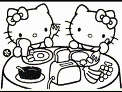 Jocuri Pentru Copii Mari şi Mici Fise De Colorat Cu Hello Kitty