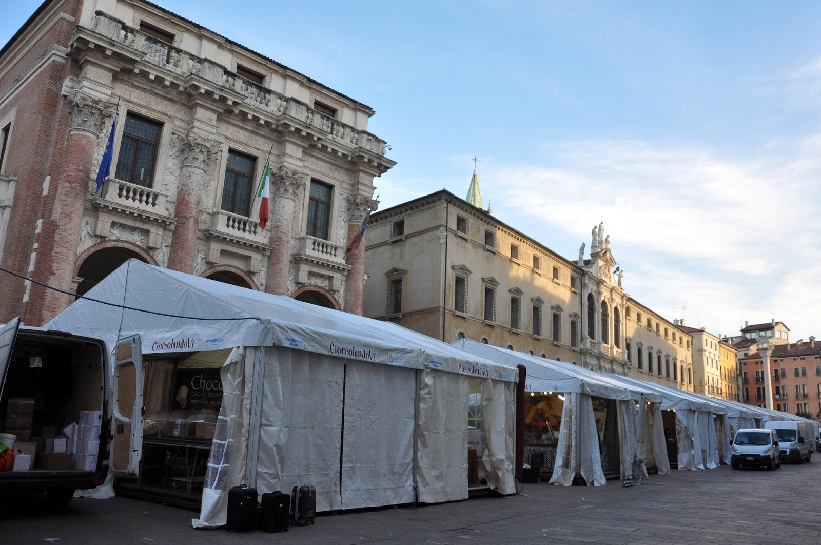 Getting ready, Chocolate Festival, Piazza dei Signori, Vicenza, Veneto, Italy-3