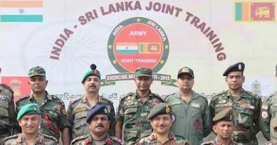 Exercise MITRA SHAKTI in Sri Lanka