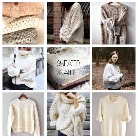 IN THE MOOD FOR: COZY SWEATERS