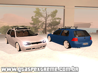 Vw Golf mk4 Yellow Stanced para GTA San Andreas