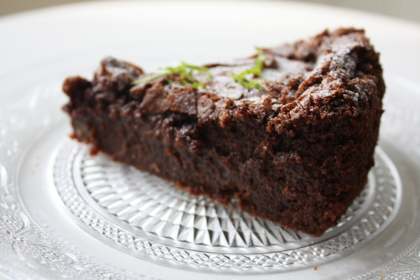 What I Baked This Weekend Flourless Chocolate Lime Cake