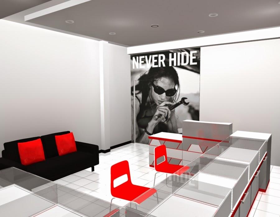 desain 3d Etalase Kacamata dan Interior Untuk Optik - Semarang 09