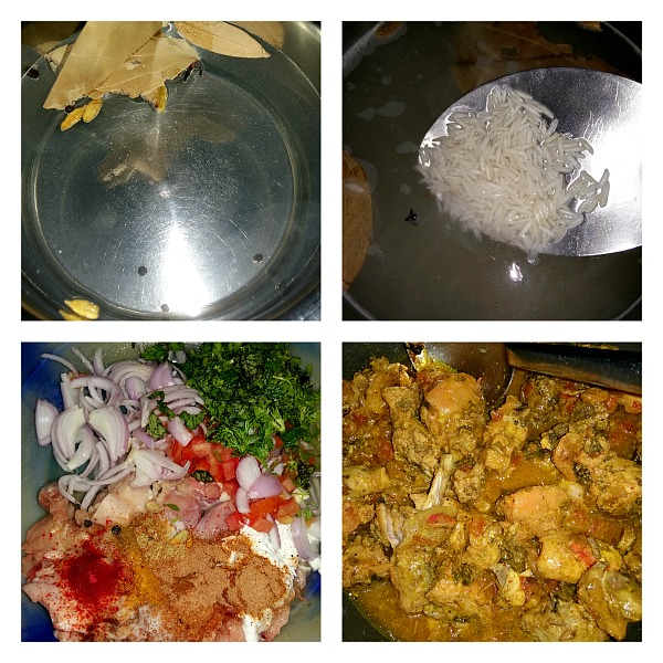 Step by Step Pictures of How to make Chicken Biryani