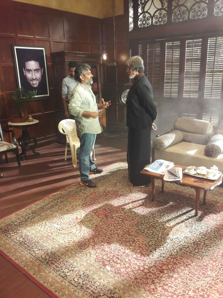 Bahubali Rajamouli Meets Sarkaar Amithabh Photos