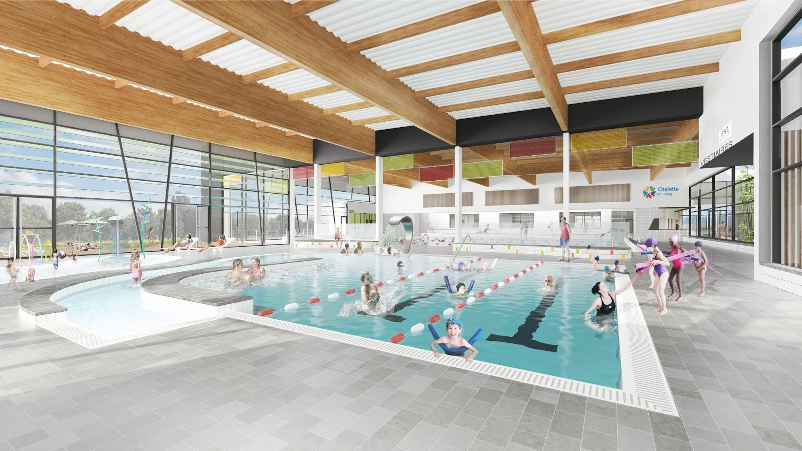 construction d 39 une piscine chalette sur loing 45 chm architectes. Black Bedroom Furniture Sets. Home Design Ideas