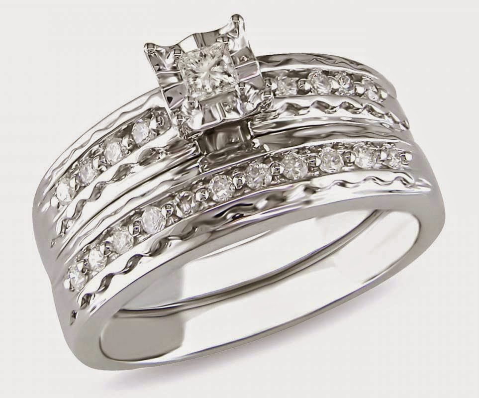 Cheap Rectangle Diamond Wedding Rings Sets Under 200 Dollars