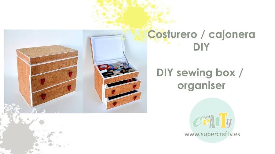 cajonera cartón pluma / cardboard sewing box