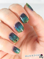 Gradient nails with Whispering Waves 1