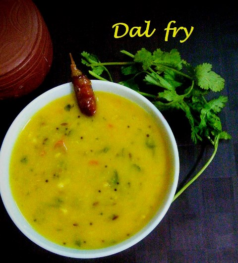 Dal fry is a healthy side dish for roti. This dal fry can be quickly prepared and almost everyone in your family, including kids love this creamy dal. For this dal fry I have used both moong dal and toor dal. This dal fry is a perfect side dish for roti during winter season. In this winter, you can enjoy this warm dal fry and roti or rice with your family and friends.