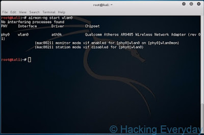 REAVER : Hack Wifi WPA2-PSK dengan Linux airmon-ng start wlan0