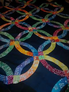 ProsperityStuff Quilts: Modern Double Wedding Ring in Batik
