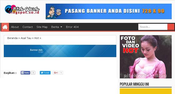 Pasang Iklan Banner Murah Di PitekWalek Blog
