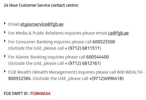 first gulf bank customer service dubai uae customer