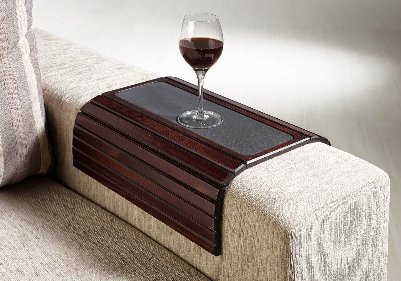 Sofa Arm Rest Tray Good Leather Sofas In Bangalore Couch Table