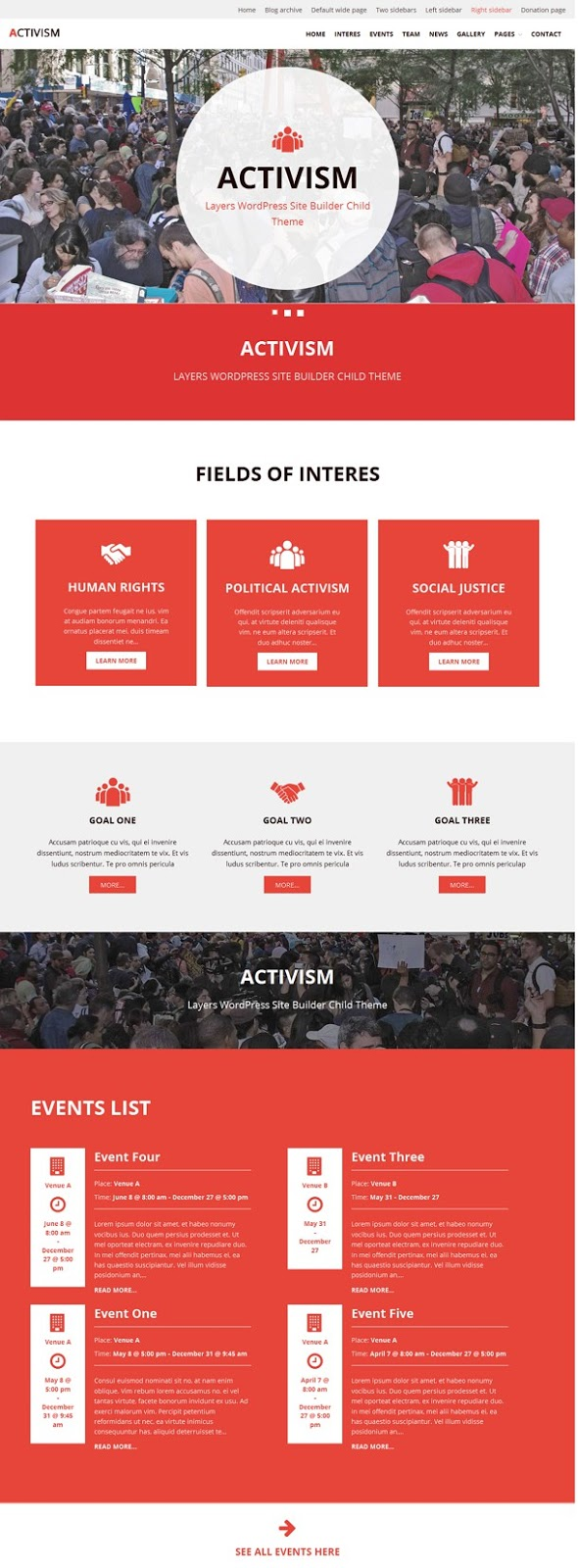 Activism - LayersWP WordPress Child Theme