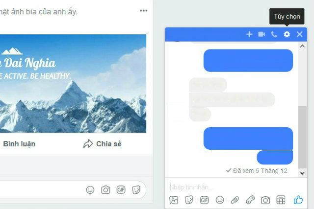 Cách xóa tin nhắn facebook trên điện thoại, máy tính 3