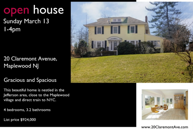How can you find open houses in New Jersey?