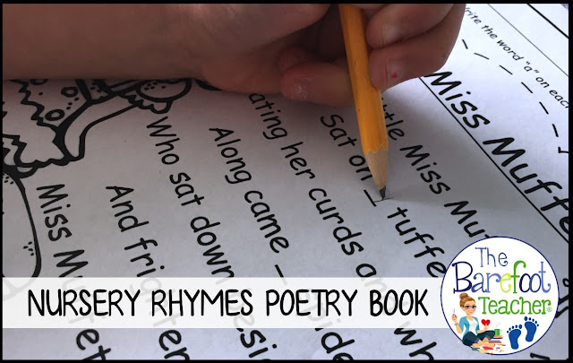 This FREE Nursery Rhymes poetry book printable will fit right in with the other activities and songs you are singing with your Preschool and Kindergarten students. Plus, it reinforces high frequency words as well!