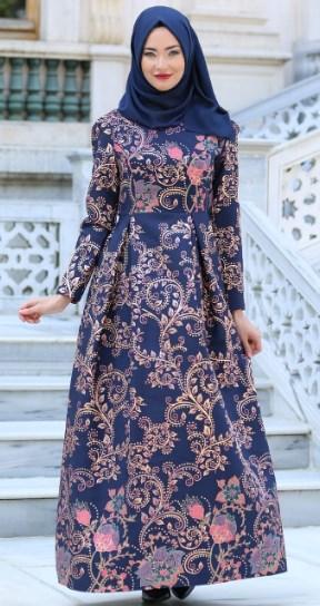 Busanamuslim 5 Contoh Gamis Batik Kombinasi Brokat Terbaru 2018
