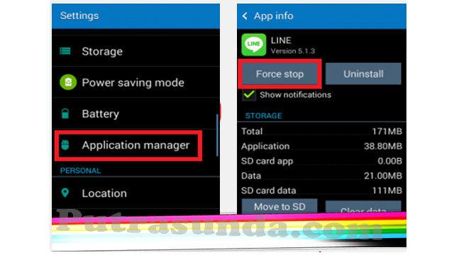 Menutup aplikasi secara paksa agar Ponsel Android tidak semakin Lemot