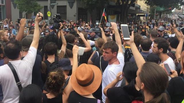 Violencia marca la marcha en el 'Día de Invasión' en Australia