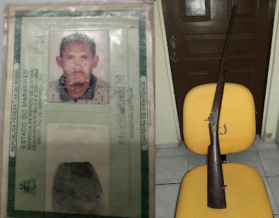 Anapurus! Homem é preso por tentativa de homicídio contra sua esposa e porte ilegal de arma de fogo.