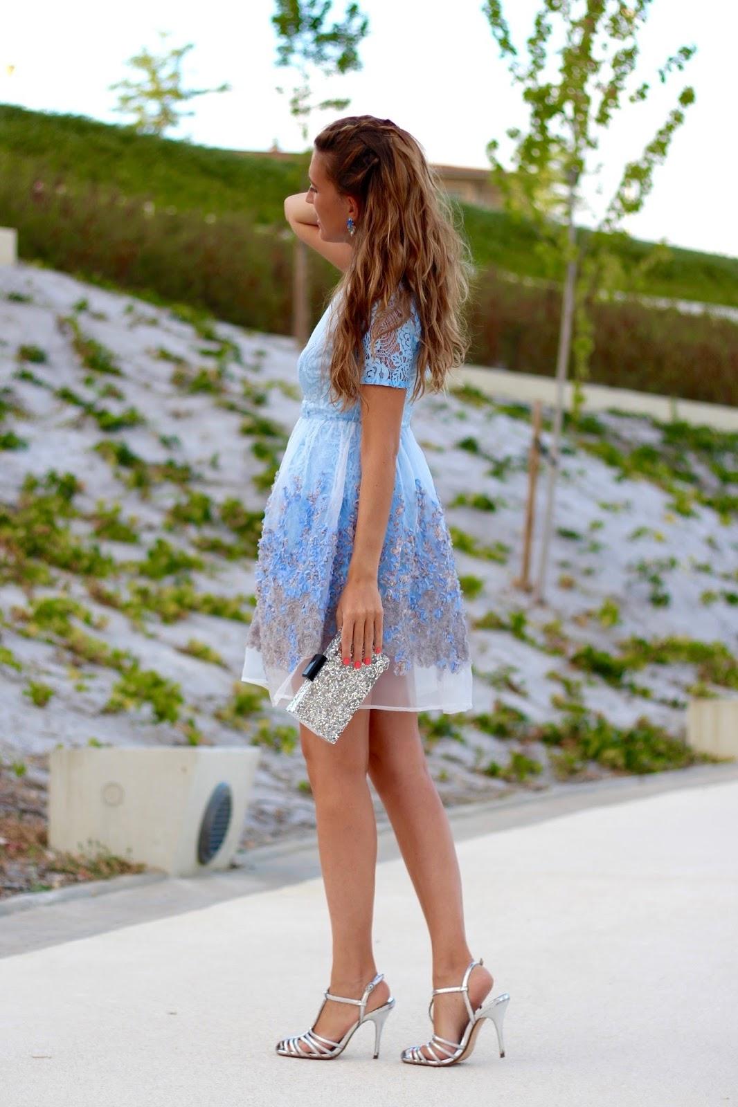 vestido fiesta azul bebe