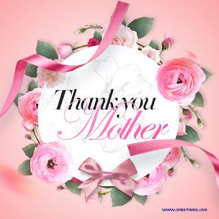 thank you mom greetings flowers frame design