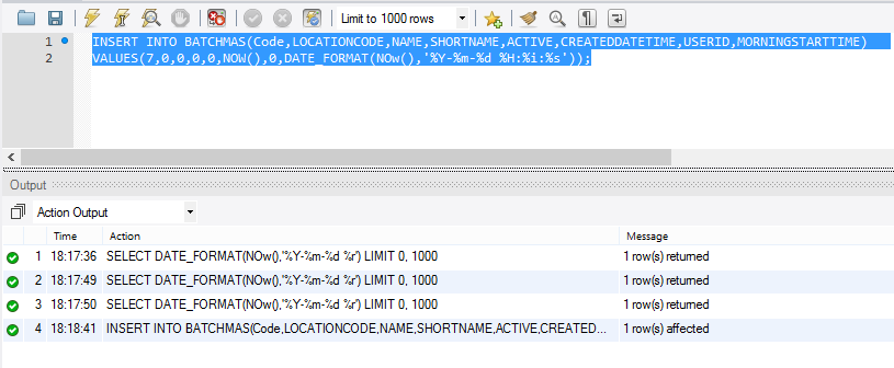 Mysql select datetime format