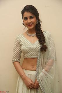 Raashi Khanan looks stunning in Crop Top Deep neck Choli Ghagra Transparent Chunni WOW ~  Exclusive Celebrities Galleries 112.JPG