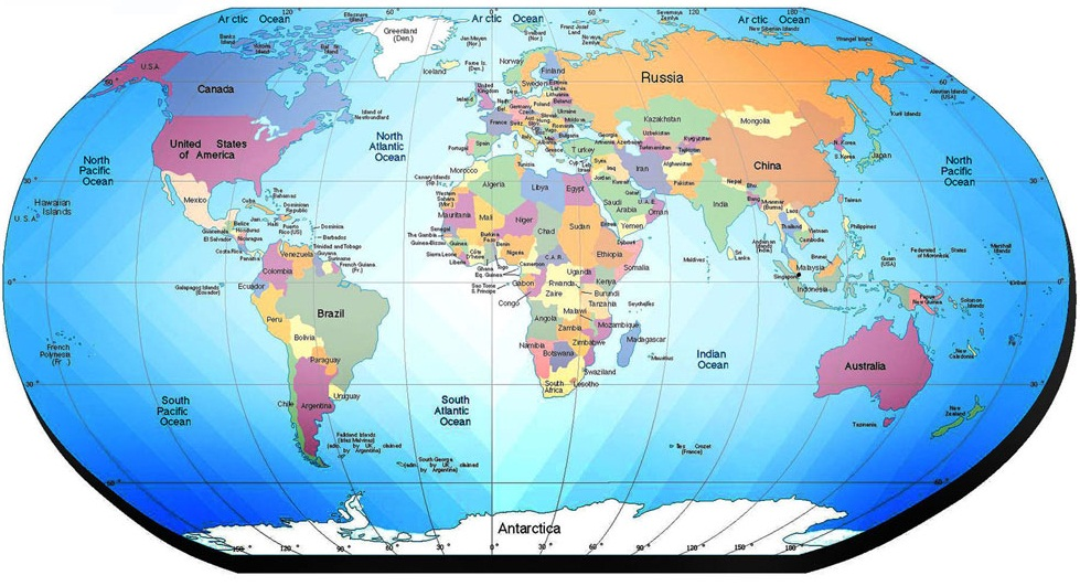 world map with country - photo #36