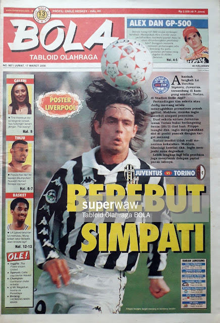TABLOID BOLA COVER INZAGHI JUVENTUS