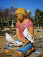 Sevilla - Fuente de las Palomas del Parque de María Luisa