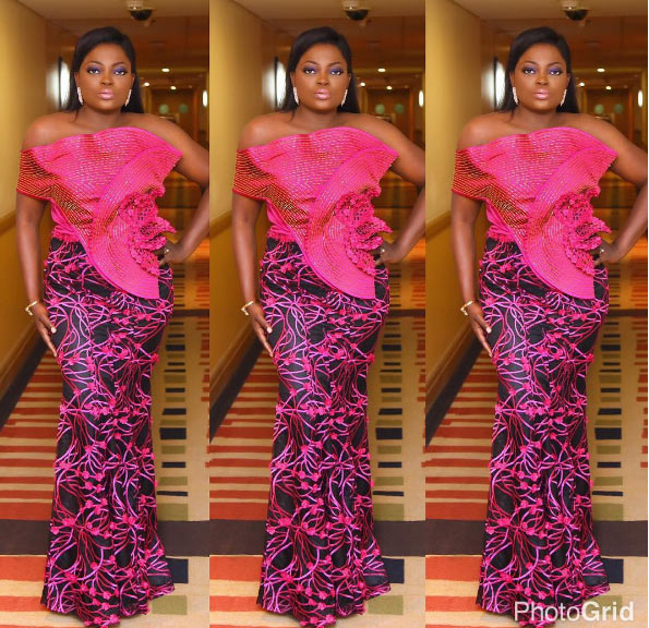 Funke Akindele glows as she steps out for King Sunny Ade's birthday party