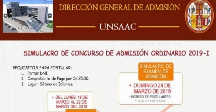 UNSAAC: Simulacro de Examen de Admisión será este Domingo 24 en la Universidad Nacional de San Antonio Abad del Cusco - www.unsaac.edu.pe