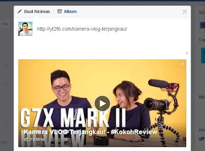 cara share video di facebook