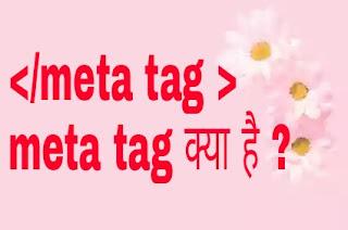 ब्लॉगर meta tag क्या है seo tips hindi