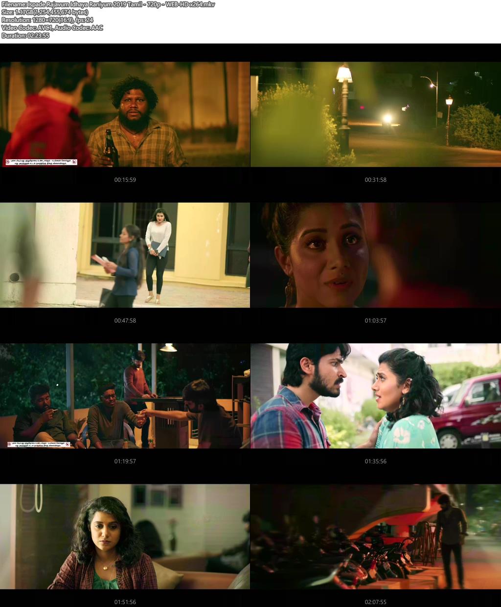 Ispade Rajavum Idhaya Raniyum 2019 Tamil 720p WEB-HD x264 | 480p 300MB | 100MB HEVC Screenshot