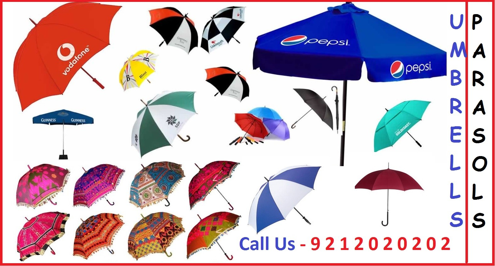 Advertising Umbrella Manufacturers, Suppliers in New Delhi, Supply all over India