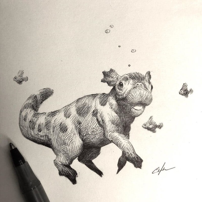 06-Bobby-Chiu-Fun-and-Cute-Ink-Fantasy-Animals-www-designstack-co
