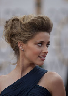 Updo hairstyle for short to medium hair