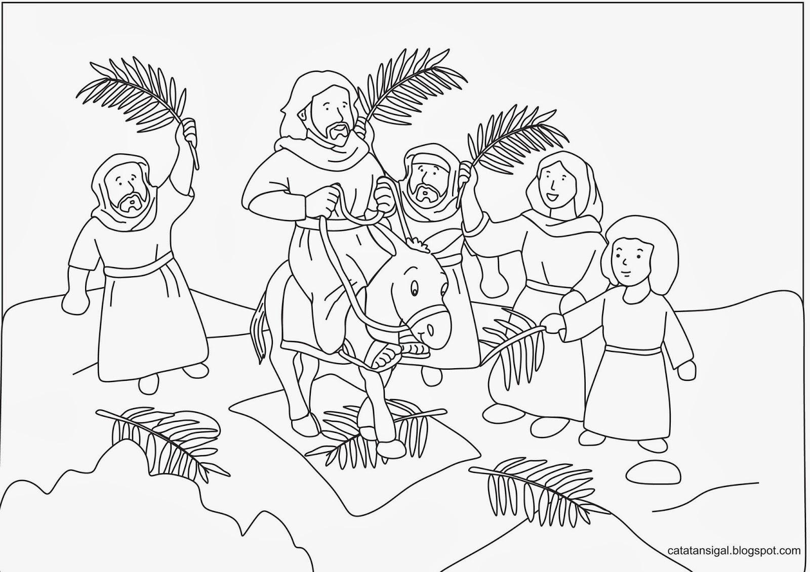 Gambar Mewarnai Anak Sekolah Minggu Nusagates