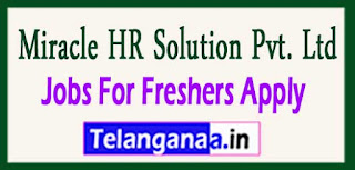 Miracle HR Solution Pvt. Ltd Recruitment 2017 Jobs For Freshers Apply