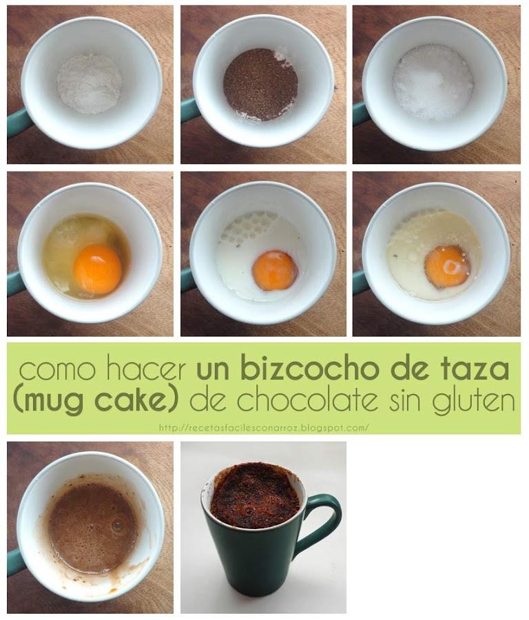 receta mug cake chocolate fototutorial